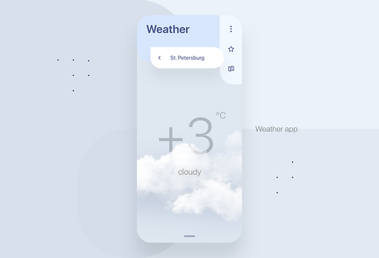 Weather - mobile app