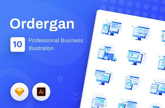 Ordergan : Unique Icon Illustration