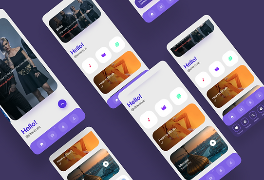 Streaming service - mobile app