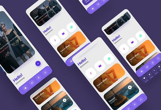 Streaming service - mobile app
