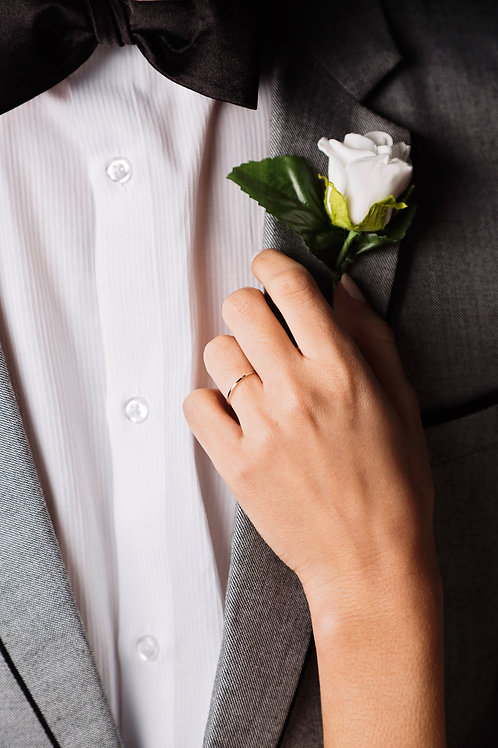 Men's Boutonnieres | Single Rose (any colour)