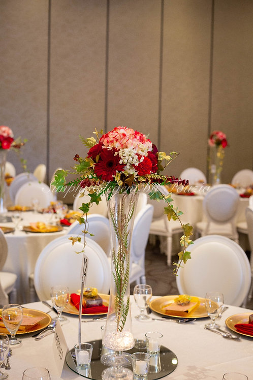 Tall Red Rose Centerpiece