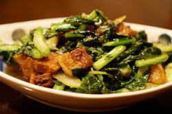 Crispy Pork with Chinese Broccoli