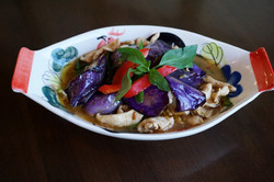 Eggplant and Chicken with Basil
