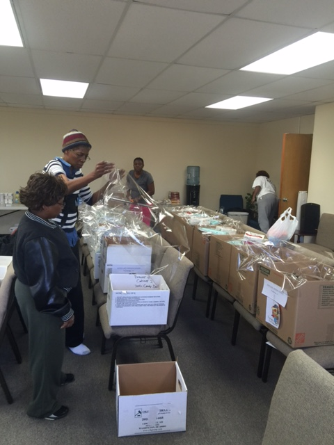 Packing Thanksgiving Boxes of Love