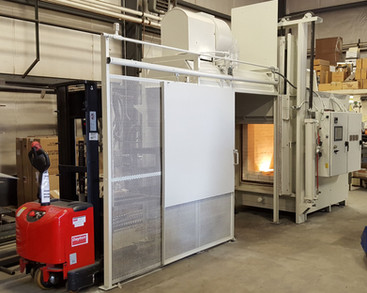electric furnace with cooling chamber