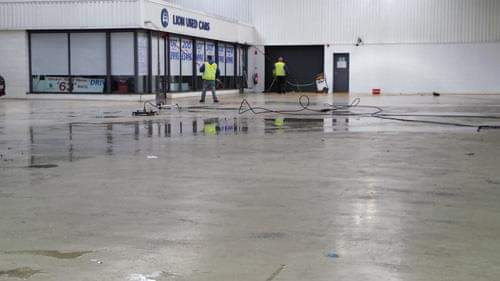 Commercial jet washing in South East London.