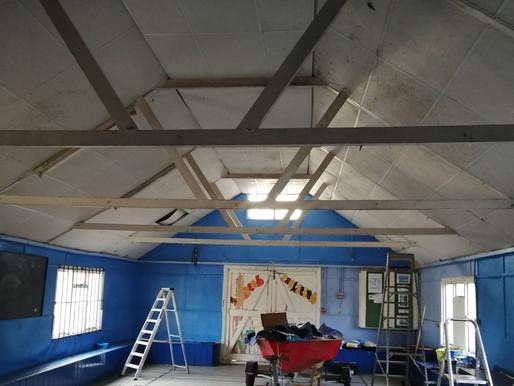 Progress on scout hut renovation continues...