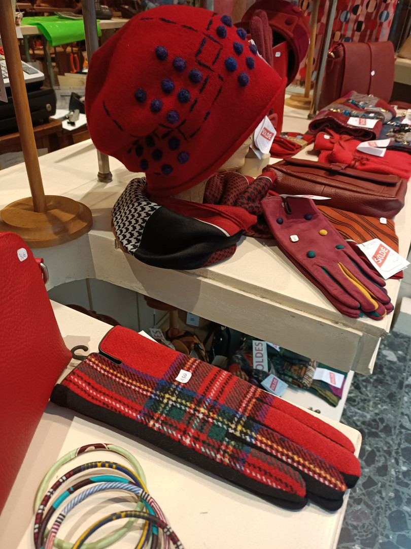 Soldes d'hiver 2021 chapeaux et accessoires de mode Paris