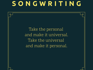 SONGWRITING QUICK TIP