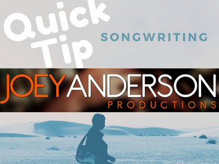 Quick Tip: Songwriting