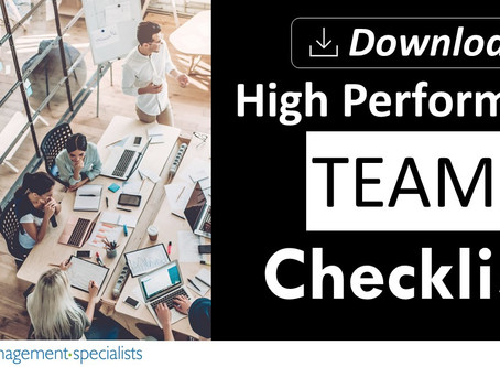 11 Characteristics of a High Performing Team