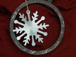 / Flocon de Noël en zinc