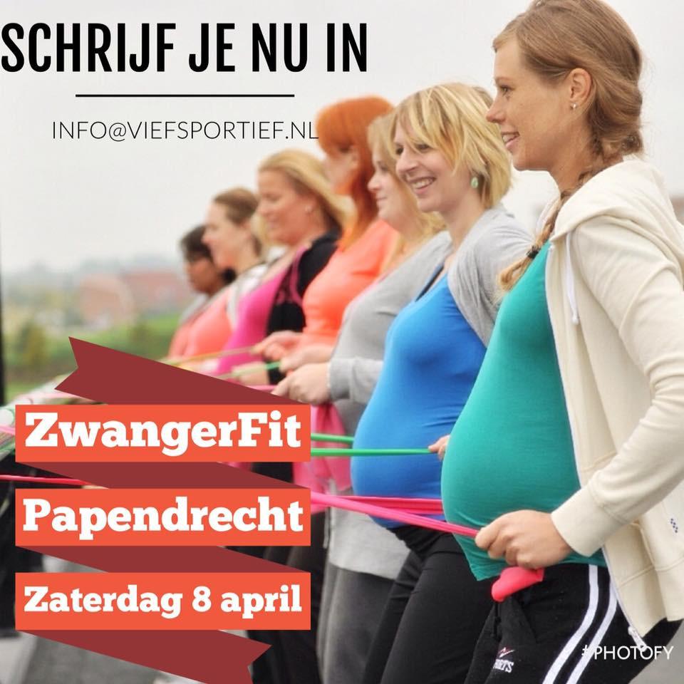 Op zaterdag 8 april start de nieuwe reeks ZwangerFit in Papendrecht. Ben je in mei of juni uitgerekend, schrijf je dan nu in voor deze leuke actieve en informatieve zwangerschapscursus.