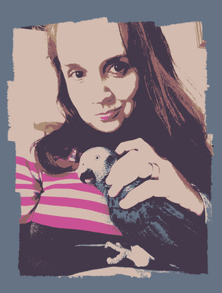 Kristin and her bird Nemi