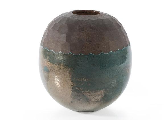 Vaso Decorativo em Vidro Metálico