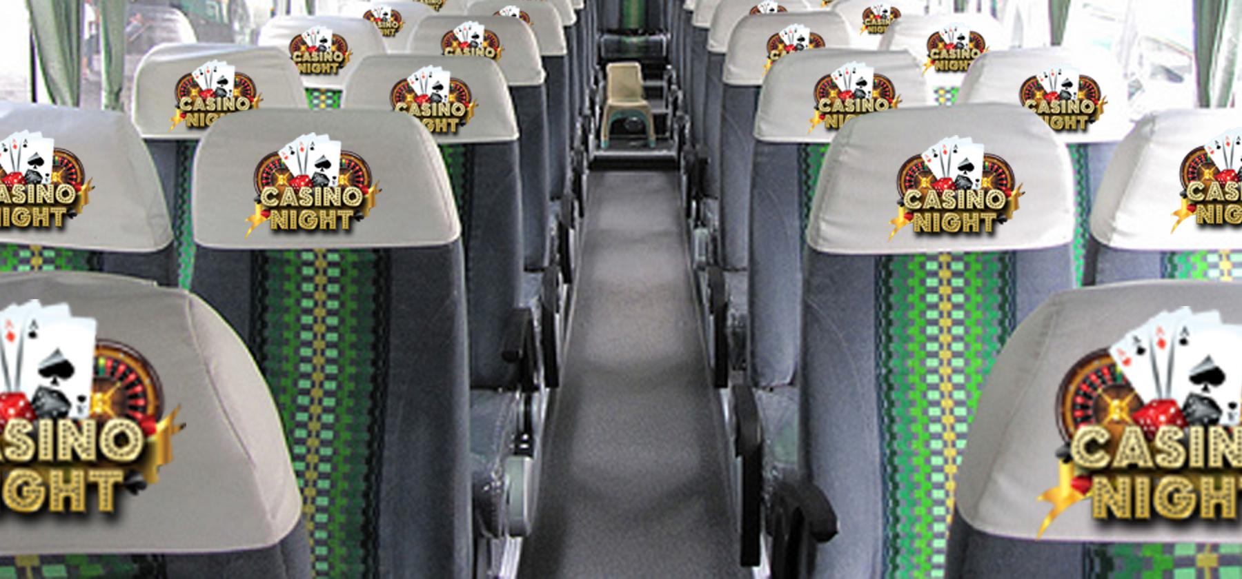 Tour bus Seat Head Covers Digital Imprint
