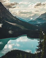 lake surrounded with mountains Canada