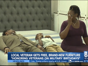 Navy veteran receives furniture from Armed Forces Chamber