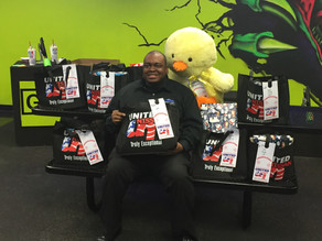 Hunter Cain supports Holiday Toy Giveaway