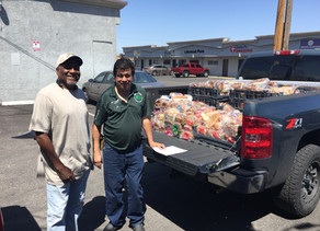 City of North Las Vegas receives bread donation from the Armed Forces Chamber