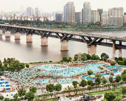 Ttukseom Swimming Pool, Seoul, August 2019