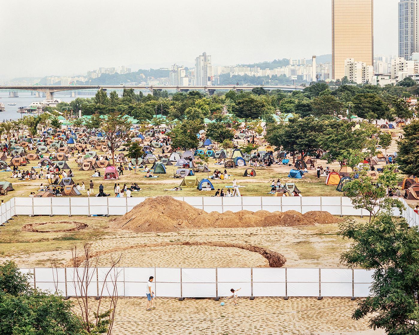 Campsite, Seoul, August 2018