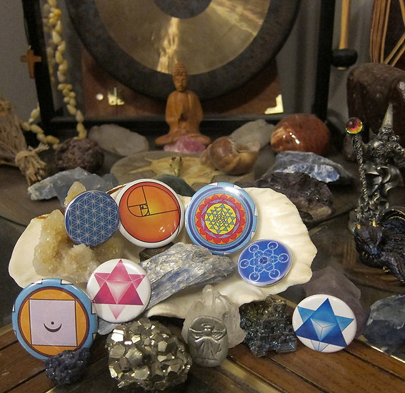 Sacred Geometry Button ~ Large (set of 3)