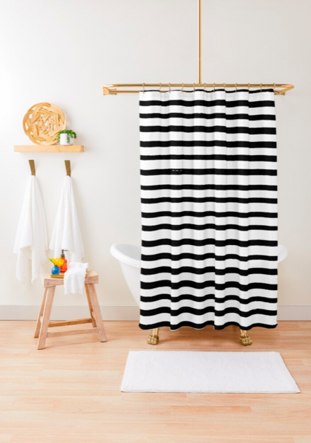 Hand drawn stripes print