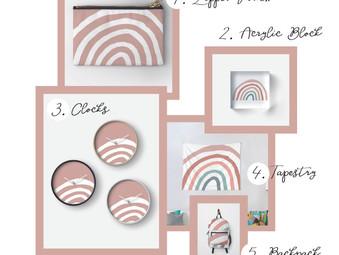 Muted Boho Rainbow Designs
