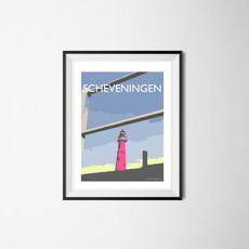 Scheveningen Red Lighthouse, The Netherlands