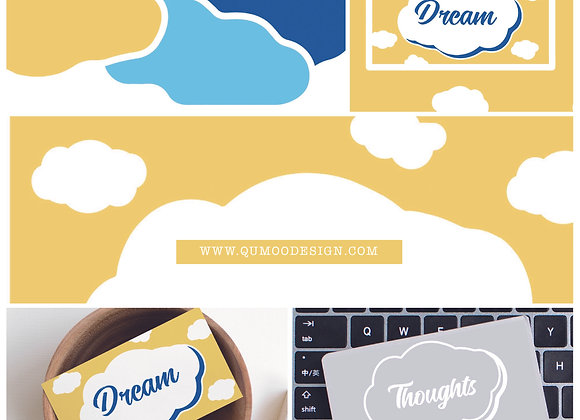 Cloudy Mini Branding Kit