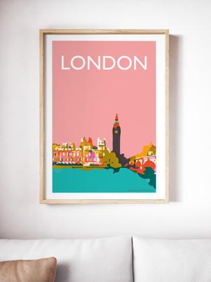 Big Ben Westminster London A4 print