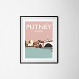 A4 print of Putney, London