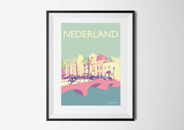 Nederland Canal Vintage Colour