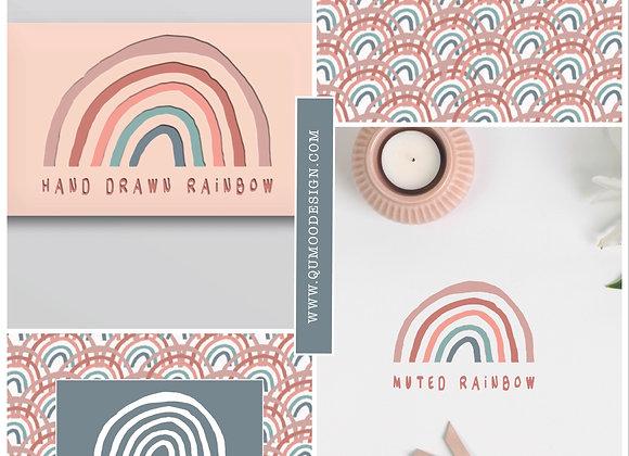 Hand Drawn Rainbow Mini Branding Kit