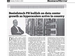 [Business Mirror] Beeinfotech PH bullish on data center growth as hyperscalers arrive in country
