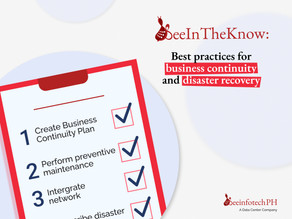 #BeeInTheKnow: Best practices for business continuity and disaster recovery