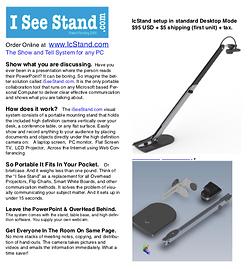 PhoneCradle IseeStand Patent