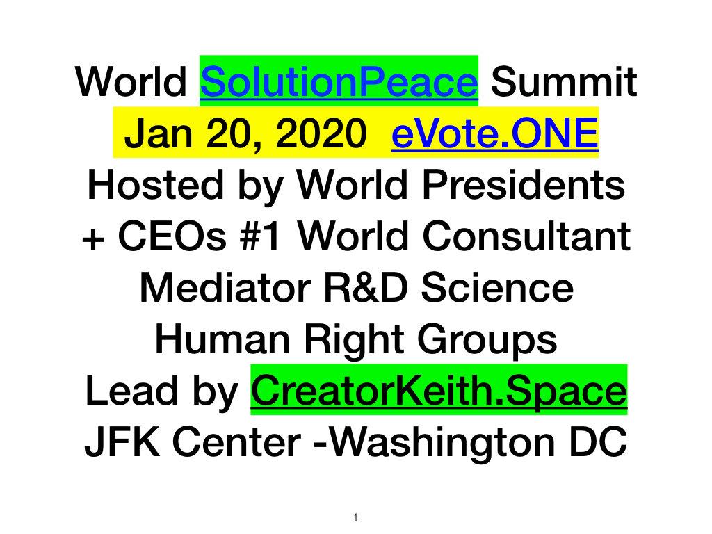 World SolutionPeace.com Summit