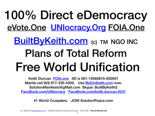 Direct Democracy is UNIocracy.ORG