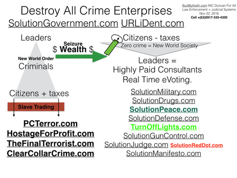 eVote.ONE destroys all Criminal Forever. Take Action by commanding Action by all Authorities, Press,