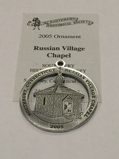2005 Pewter Ornament, Russian Village Chapel