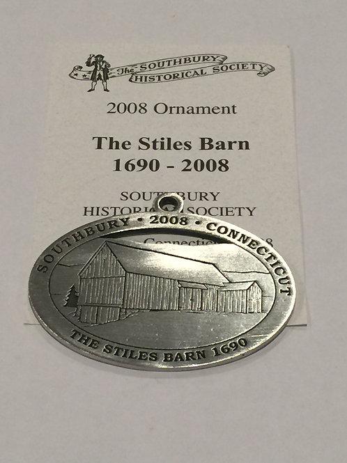 2008 Pewter Ornament, The Stiles Barn