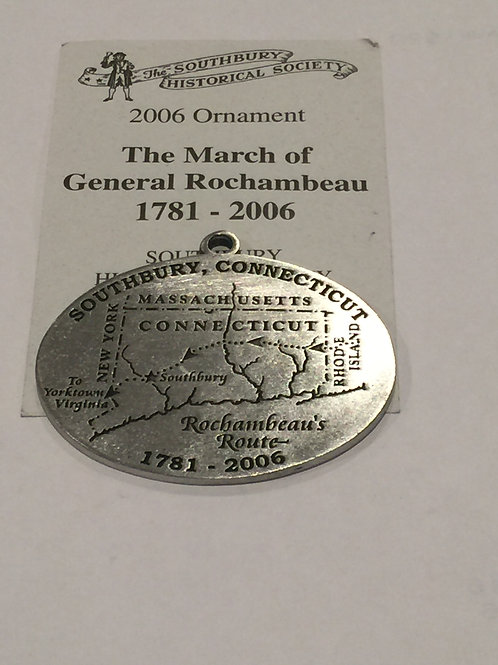 2006 Pewter Ornament, The March of General Rochambeau