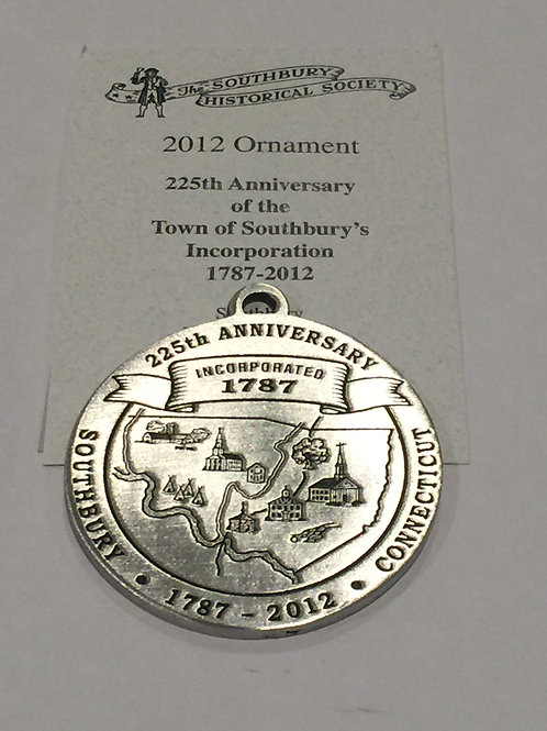 2012 Pewter Ornament, 225th Anniversary of Southbury