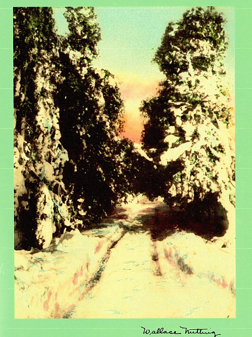 Wallace Nutting Snowy Road Card