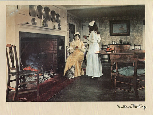 Wallace Nutting Ladies Hearth Cat Notecard