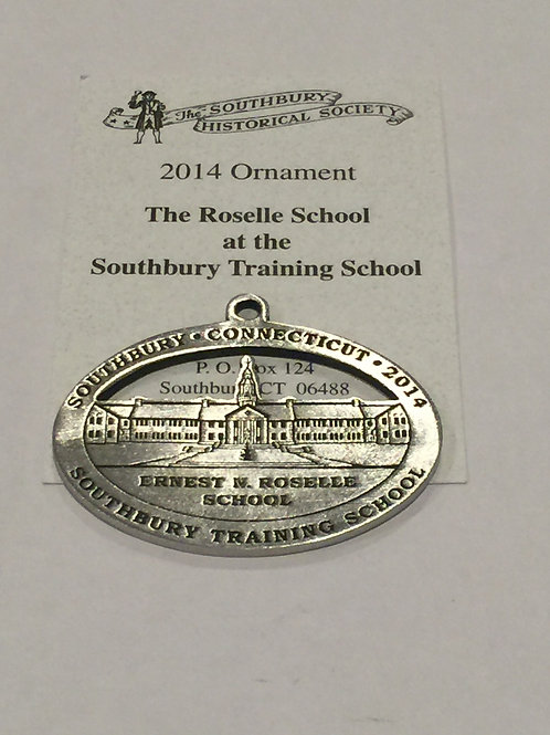 2014 Pewter Ornament, The Roselle School