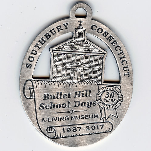 2017 Pewter Ornament, Bullet Hill School Days